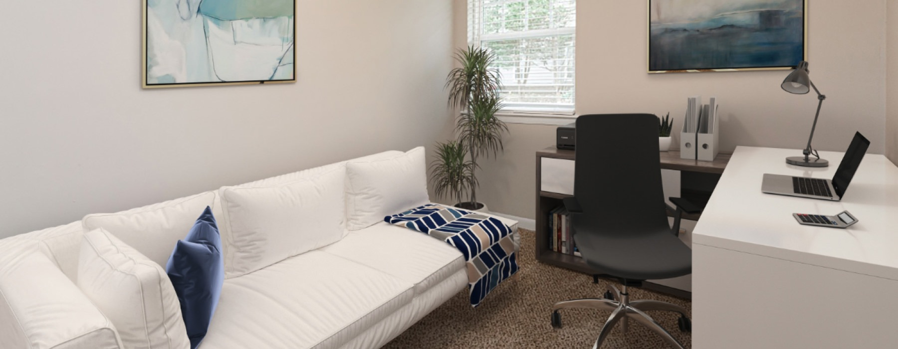 large carpeted bedroom
